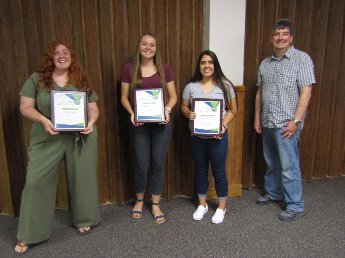 Recipients of the ioneer Sustainable World Scholarship from Tonopah High School